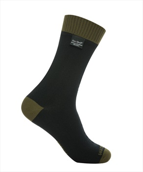 DexShell Thermlite Waterproof Socks UK 3-5 Olive Green / Black