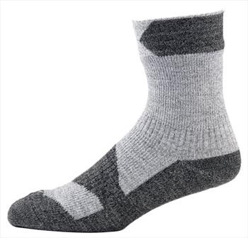 SealSkinz Walking Thin Ankle Waterproof Socks, L Grey Marl/Dark Grey