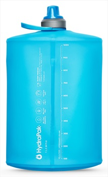 HydraPak Stow Bottle Collapsible Drinks Bottle, 1L Malibu Blue