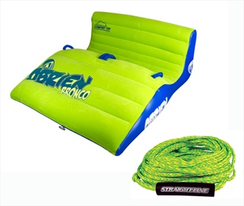 O'Brien Bronco | Supreme Rope Plush Top Towable Tube Pack, 2 Rider