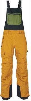 686 Hot Lap Insulated Bib Ski/Snowboard Pants, L Golden Brown