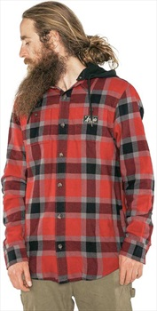 Armada Adult Unisex Reading Flannel Hoodie, S Red Chili