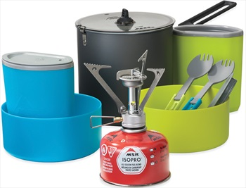 MSR Pocket Rocket Stove Kit Single Burner & Cookware Set, 2L