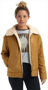 Burton Lynx Full-Zip Women's Reversible Jacket, S Creme Brulee/Wood