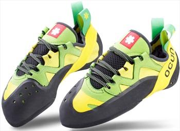 Ocun Oxi Lace Up Rock Climbing Shoe UK 6 Green/Yellow