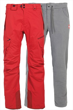686 Smarty Cargo 3-In-1 Ski/Snowboard Pants, XL Red