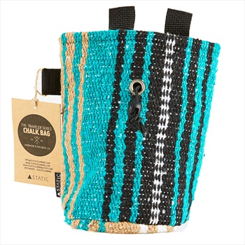 Static Traveller Series Rock Climbing Chalk Bag: White, Brown, & Teal