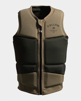 Follow Coastline Happy Fit Wakeboard Impact Vest, S Tan Olive 2020
