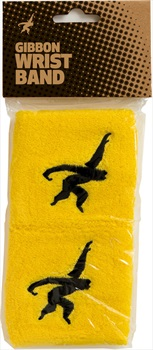 Gibbon Adult Unisex Wristband Sweatband, Yellow