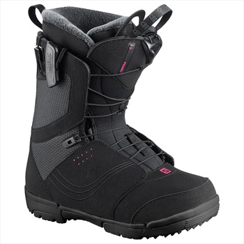 Salomon Pearl Womens Snowboard Boots, UK 7.5 Black 2020