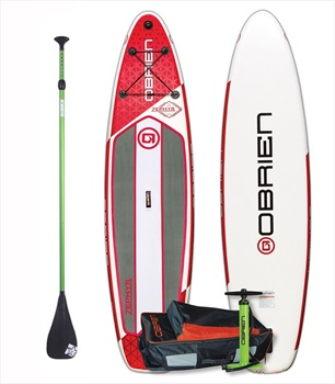 "O'Brien Zephyr Touring ISUP Paddleboard Package, 10'6"" Red 2019"