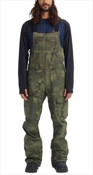 Burton Reserve Bib Ski/Snowboard Pants Trousers, L Worn Camo