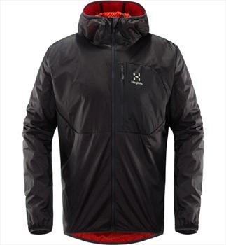 Haglofs Proteus Lightweight Insulated Jacket, L Slate/Pop Red