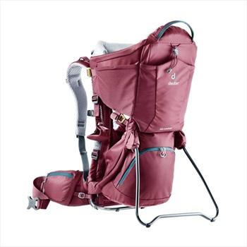 Deuter Kid Comfort Child Carrier Backpack, Adjustable Maroon