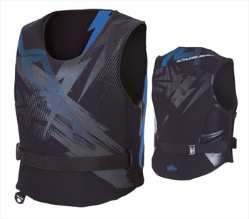 Jobe Ruthless Neo Side Entry Impact Vest, XL Black Blue