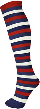 Manbi Pattern Ski/Snowboard Tube Socks, UK 4-11, Mid Stripes Navy