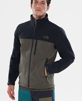 The North Face Apex Bionic Soft-Shell Jacket, S Black/New Taupe Green