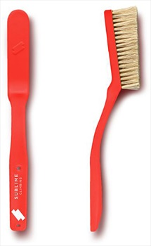 Sublime Climbing Premium Natural Boar's Hair Bouldering Brush, Red