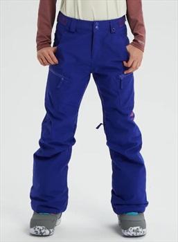 Burton Elite Cargo Girls Snowboard Pants, M Royal Blue