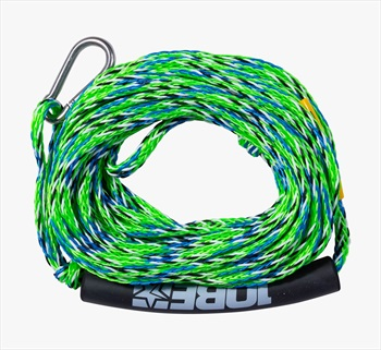 Jobe Heavy Duty Towable Tube Rope, 2 Rider With Hook Lime 2020