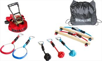 Slackers Ninja Line Intro-Kit Slackline Set, 11m X 5cm Red