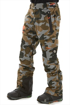 Superdry Ultimate Snow Rescue Ski/Snowboard Pants, L Rock Camo 2020