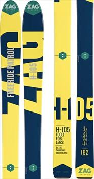 ZAG H-105 Skis, 176cm Blue/Yellow 2018