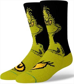 Stance The Grinch Skate/Crew Socks, L Green
