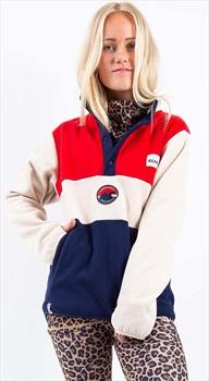 Eivy Mountain Women's Retro Pullover Fleece, XS Red