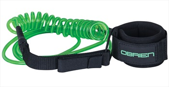 O'Brien Coiled Leash For SUP, 10 Ft Green 2019