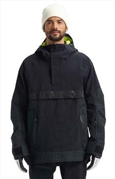 Burton Frostner Anorak Pull Over Ski/Snowboard Jacket, M True Black