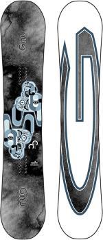 GNU Carbon Credit Asym Hybrid Camber Snowboard, 159cm 2021