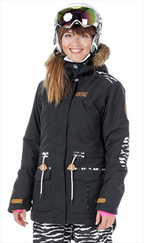 Picture Apply 2 Women's Ski/Snowboard Jacket XS Black/Tiger Patch