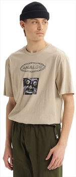 Burton Analog Flatout Tee Graphic Short Sleeve T Shirt, L Plaza Taupe