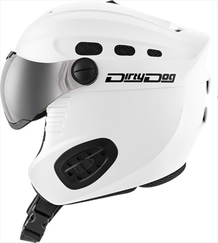 Dirty Dog Apache Ski/Snowboard Visor Helmet L Matte White Flash Silver
