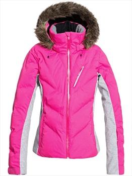 Roxy Snowstorm Women's Snowboard/Ski Jacket, M Beetroot Pink