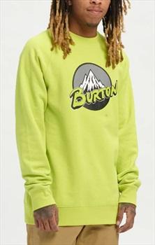 Burton Retro Mountain Organic Retro Crew Neck Sweater, M Tender Shoots