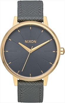 Nixon Kensington Leather Women's Watch, Light Gold/Charcoal