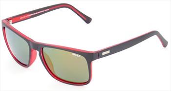 Sinner Skagen Sintec Winter/Summer Smoke Wayfarer Sunglasses Black/Red