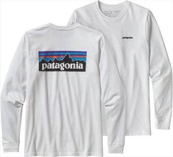 Patagonia P-6 Logo Responsibili-tee Long Sleeve T-Shirt, L White