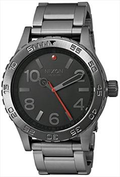 Nixon Adult Unisex 46 Analogue Wrist Watch, Gunmetal