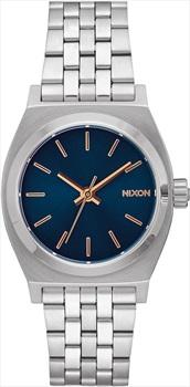 Nixon Medium Time Teller Women's Watch, Navy/Rose Gold