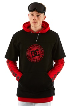 DC Dryden Ski/Snowboard Tech Hoodie, L Racing Red/Black