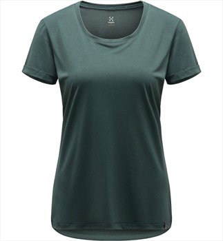 Haglofs Ridge Hike Women's Quick Drying T-Shirt, UK 14 Mineral