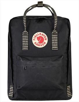 Fjallraven Kanken Backpack, 16L Black/Striped