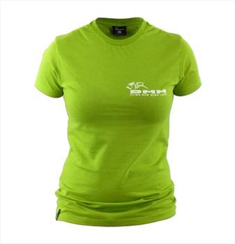 DMM Logo Climb Now Work Later Women's Climbing T-Shirt, UK 14 Green