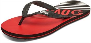 DVS Adult Unisex Marbella Flip Flops, UK 7 Red/Black