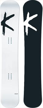 Kessler The Ride Hybrid Camber Snowboard, 163cm White Deck, Black Base