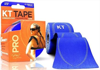 """KT Tape Synthetic Pro Precut Kinesiology Tape, 10"""" X 2"""" Sonic Blue"""