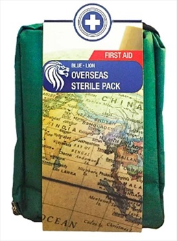 Blue Lion Overseas Sterile Pack Travel & Outdoor First Aid Kit